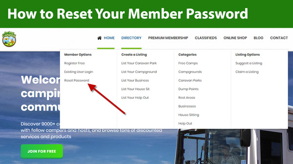 How to Reset Your Member Password